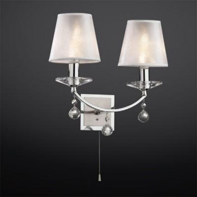 Светильник Odeon Light 2274/2W хром KvintaКлассика<br><br><br>S освещ. до, м2: 5<br>Тип лампы: накаливания / энергосбережения / LED-светодиодная<br>Тип цоколя: E14<br>Количество ламп: 2<br>Ширина, мм: 350<br>MAX мощность ламп, Вт: 40<br>Высота, мм: 290<br>Цвет арматуры: серебристый