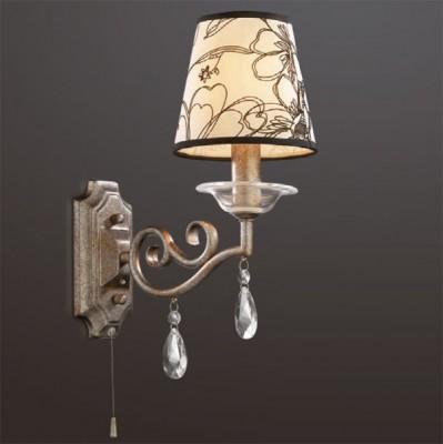 Светильник Odeon Light 2275/1W коричневый LikaКлассика<br><br><br>S освещ. до, м2: 2<br>Тип товара: Светильник настенный бра<br>Тип лампы: накаливания / энергосбережения / LED-светодиодная<br>Тип цоколя: E14<br>Количество ламп: 1<br>Ширина, мм: 180<br>MAX мощность ламп, Вт: 40<br>Высота, мм: 390<br>Цвет арматуры: коричневый