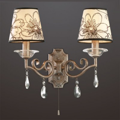 Светильник Odeon Light 2275/2W коричневый LikaКлассические<br><br><br>S освещ. до, м2: 5<br>Тип лампы: накаливания / энергосбережения / LED-светодиодная<br>Тип цоколя: E14<br>Количество ламп: 2<br>Ширина, мм: 420<br>MAX мощность ламп, Вт: 40<br>Высота, мм: 320<br>Цвет арматуры: коричневый