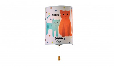Купить со скидкой Светильник бра кошки Odeon Light 2279/1W белый Cats