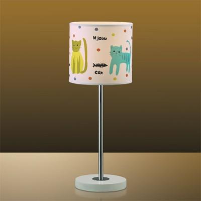 Светильник настольный Odeon light 2279/1T белый CatsДля детской<br>Настольная лампа – это не просто источник дополнительного освещения, но и оригинальный элемент декора. Его можно установить в спальне, гостиной, кабинете и других комнатах. Интернет-магазин «Светодом» предлагает настольные лампы разных стилей по доступным ценам. Благодаря большому ассортименту Вы обязательно найдете в нашем каталоге именно ту модель, которую искали.   Настольная лампа Odeon light 2279/1T  – прекрасный вариант для завершения интерьера. Ее можно включить одновременно с люстрой для более яркого освещения или без нее для создания уютной атмосферы, настраивающей на отдых.   Купить настольную лампу Odeon light 2279/1T  Вы можете с помощью виртуальной «Корзины» или по контактным номерам, указанным на сайте.<br><br>S освещ. до, м2: 2<br>Тип лампы: накал-я - энергосбер-я<br>Тип цоколя: E14<br>Цвет арматуры: разноцветный<br>Количество ламп: 1<br>Диаметр, мм мм: 150<br>Высота, мм: 400<br>MAX мощность ламп, Вт: 40