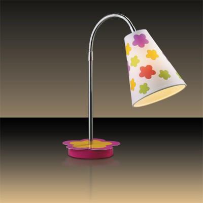 Светильник настольный Odeon light 2280/1T хром FlauДля детской<br>Настольная лампа – это не просто источник дополнительного освещения, но и оригинальный элемент декора. Его можно установить в спальне, гостиной, кабинете и других комнатах. Интернет-магазин «Светодом» предлагает настольные лампы разных стилей по доступным ценам. Благодаря большому ассортименту Вы обязательно найдете в нашем каталоге именно ту модель, которую искали.   Настольная лампа Odeon light 2280/1T  – прекрасный вариант для завершения интерьера. Ее можно включить одновременно с люстрой для более яркого освещения или без нее для создания уютной атмосферы, настраивающей на отдых.   Купить настольную лампу Odeon light 2280/1T  Вы можете с помощью виртуальной «Корзины» или по контактным номерам, указанным на сайте.<br><br>S освещ. до, м2: 2<br>Тип лампы: накал-я - энергосбер-я<br>Тип цоколя: E14<br>Количество ламп: 1<br>MAX мощность ламп, Вт: 40<br>Диаметр, мм мм: 130<br>Высота, мм: 320<br>Цвет арматуры: разноцветный