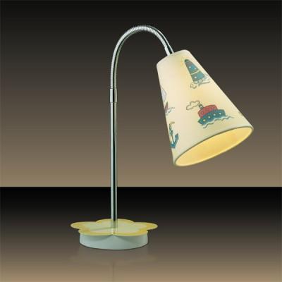 Светильник настольный Odeon light 2281/1T хром DreamДля детской<br><br><br>S освещ. до, м2: 2<br>Тип товара: настольная лампа<br>Тип лампы: накал-я - энергосбер-я<br>Тип цоколя: E14<br>Количество ламп: 1<br>MAX мощность ламп, Вт: 40<br>Диаметр, мм мм: 130<br>Высота, мм: 320<br>Цвет арматуры: разноцветный
