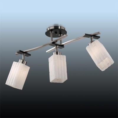 Люстра Odeon Light 2283/3C никель NukiПоворотные<br>Компания «Светодом» предлагает широкий ассортимент люстр от известных производителей. Представленные в нашем каталоге товары выполнены из современных материалов и обладают отличным качеством. Благодаря широкому ассортименту Вы сможете найти у нас люстру под любой интерьер. Мы предлагаем как классические варианты, так и современные модели, отличающиеся лаконичностью и простотой форм.  Стильная люстра Odeon light 2283/3C станет украшением любого дома. Эта модель от известного производителя не оставит равнодушным ценителей красивых и оригинальных предметов интерьера. Люстра Odeon light 2283/3C обеспечит равномерное распределение света по всей комнате. При выборе обратите внимание на характеристики, позволяющие приобрести наиболее подходящую модель. Купить понравившуюся люстру по доступной цене Вы можете в интернет-магазине «Светодом».<br><br>Установка на натяжной потолок: Да<br>S освещ. до, м2: 12<br>Крепление: планка<br>Тип лампы: накаливания / энергосбережения / LED-светодиодная<br>Тип цоколя: E27<br>Количество ламп: 3<br>MAX мощность ламп, Вт: 60<br>Длина, мм: 630<br>Высота, мм: 350<br>Цвет арматуры: серый