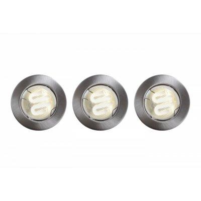 встраиваемый светильник Lucide 22901/73/12 RECESSED SPOTSАрхив<br>Встраиваемые светильники – популярное осветительное оборудование, которое можно использовать в качестве основного источника или в дополнение к люстре. Они позволяют создать нужную атмосферу атмосферу и привнести в интерьер уют и комфорт.   Интернет-магазин «Светодом» предлагает стильный встраиваемый светильник  Lucide 22901/73/12. Данная модель достаточно универсальна, поэтому подойдет практически под любой интерьер. Перед покупкой не забудьте ознакомиться с техническими параметрами, чтобы узнать тип цоколя, площадь освещения и другие важные характеристики.   Приобрести встраиваемый светильник  Lucide 22901/73/12 в нашем онлайн-магазине Вы можете либо с помощью «Корзины», либо по контактным номерам. Мы доставляем заказы по Москве, Екатеринбургу и остальным российским городам.<br><br>S освещ. до, м2: 1<br>Тип лампы: галогенная<br>Тип цоколя: GU10<br>Цвет арматуры: серебристый<br>Количество ламп: 3<br>Диаметр, мм мм: 780<br>Высота, мм: 80<br>MAX мощность ламп, Вт: 9