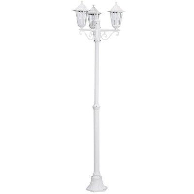 Eglo LATERNA 5 22996 светильник уличныйБольшие фонари<br>Обеспечение качественного уличного освещения – важная задача для владельцев коттеджей. Компания «Светодом» предлагает современные светильники, которые порадуют Вас отличным исполнением. В нашем каталоге представлена продукция известных производителей, пользующихся популярностью благодаря высокому качеству выпускаемых товаров.   Уличный светильник Eglo 22996 не просто обеспечит качественное освещение, но и станет украшением Вашего участка. Модель выполнена из современных материалов и имеет влагозащитный корпус, благодаря которому ей не страшны осадки.   Купить уличный светильник Eglo 22996, представленный в нашем каталоге, можно с помощью онлайн-формы для заказа. Чтобы задать имеющиеся вопросы, звоните нам по указанным телефонам.<br><br>Тип лампы: накаливания / энергосбережения / LED-светодиодная<br>Тип цоколя: E27<br>Цвет арматуры: белый<br>Количество ламп: 3<br>Диаметр, мм мм: 550<br>Размеры основания, мм: 260<br>Высота, мм: 1920<br>Оттенок (цвет): прозрачный<br>MAX мощность ламп, Вт: 3X60<br>Общая мощность, Вт: 2