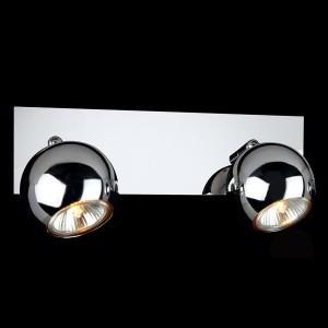 Светильник Евросвет 23102/2 хромДвойные<br>Светильники-споты – то оригинальные издели с современным дизайном. Они позволт не ограничивать сво фантази при выборе освещени дл интерьера. Такие модели обеспечиват достаточно качественный свет. Благодар компактным размерам Вы можете использовать несколько спотов дл одного помещени.  Интернет-магазин «Светодом» предлагает необычный светильник-спот Евросвет 23102/2 по привлекательной цене. Эта модель станет отличным дополнением к лстре, выполненной в том же стиле. Перед оформлением заказа изучите характеристики издели.  Купить светильник-спот Евросвет 23102/2 в нашем онлайн-магазине Вы можете либо с помощь формы на сайте, либо по указанным выше телефонам. Обратите внимание, что мы предлагаем доставку не только по Москве и Екатеринбургу, но и всем остальным российским городам.<br><br>S освещ. до, м2: 6<br>Тип лампы: галогенна / LED-светодиодна<br>Тип цокол: G5.3<br>Количество ламп: 2<br>MAX мощность ламп, Вт: 50<br>Длина, мм: 360<br>Высота, мм: 140<br>Цвет арматуры: серебристый