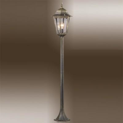 Светильник Odeon light 2322/1F бронза LanoОдиночные столбы<br>Не забывайте, что уличное освещение требует повышенного внимания в вопросе подбора подходящих изделий, которые к тому же чаще всего используются в составе цельной композиции. Представляем Вашему вниманию достойный похвалы фонарный экземпляр Odeon light 2322/1F: лаконичный, практичный, благородного эстетического оформления. Это своеобразная классика экстерьерного освещения, где сочетаются удлинённый силуэт, правильные пропорции и отсутствие лишнего декора. Конструкция Odeon light 2322/1F представлена лаконичным размером 150 см и завершается стилизованным фонарём со стеклянными окнами ярких лучей от закреплённой внутри лампы. Украсьте свою придомовую площадку лучшим светом!<br><br>S освещ. до, м2: до 4<br>Тип лампы: накаливания / энергосбережения / LED-светодиодная<br>Тип цоколя: E27<br>Цвет арматуры: бронзовый<br>Количество ламп: 1<br>Диаметр, мм мм: 231<br>Высота, мм: 1210<br>MAX мощность ламп, Вт: 60