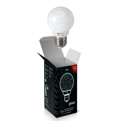 Лампа Gauss 232213 Globe 13W 4200K E27В виде шарика<br>В интернет-магазине «Светодом» можно купить не только люстры и светильники, но и лампочки. В нашем каталоге представлены светодиодные, галогенные, энергосберегающие модели и лампы накаливания. В ассортименте имеются изделия разной мощности, поэтому у нас Вы сможете приобрести все необходимое для освещения.   Лампа Gauss 232213 обеспечит отличное качество освещения. При покупке ознакомьтесь с параметрами в разделе «Характеристики», чтобы не ошибиться в выборе. Там же указано, для каких осветительных приборов Вы можете использовать лампу Gauss 232213Gauss 232213.   Для оформления покупки воспользуйтесь «Корзиной». При наличии вопросов Вы можете позвонить нашим менеджерам по одному из контактных номеров. Мы доставляем заказы в Москву, Екатеринбург и другие города России.<br><br>Цветовая t, К: 4200<br>Тип лампы: Энергосбережения<br>Тип цоколя: E27<br>MAX мощность ламп, Вт: 13<br>Диаметр, мм мм: 60<br>Высота, мм: 96