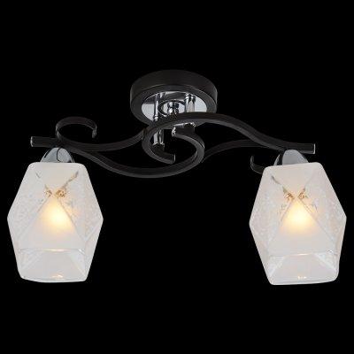 Светильник Idlamp 233/2PF BlackchromeПотолочные<br><br><br>Установка на натяжной потолок: Ограничено<br>S освещ. до, м2: 8<br>Крепление: Планка<br>Тип товара: Люстра<br>Тип цоколя: E14<br>Количество ламп: 2<br>Ширина, мм: 150<br>MAX мощность ламп, Вт: 60<br>Длина, мм: 410<br>Высота, мм: 240<br>Оттенок (цвет): Полупрозрачный<br>Цвет арматуры: серебристый