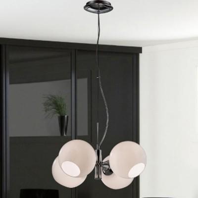 Люстра Favourite 2332-4P BolleПодвесные<br><br><br>Установка на натяжной потолок: Да<br>S освещ. до, м2: 10<br>Крепление: Планка<br>Тип товара: Люстра подвесная<br>Скидка, %: 57<br>Тип лампы: накаливания / энергосбережения / LED-светодиодная<br>Тип цоколя: E27<br>Количество ламп: 4<br>MAX мощность ламп, Вт: 40<br>Диаметр, мм мм: 453<br>Размеры: D453*H120/1000<br>Высота, мм: 120 - 1000<br>Оттенок (цвет): серебристый<br>Цвет арматуры: серебристый