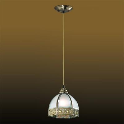 Светильник Odeon light 2344/1 бронза ValsoОдиночные<br><br><br>S освещ. до, м2: 4<br>Крепление: планка<br>Тип товара: Светильник подвесной<br>Тип лампы: накаливания / энергосбережения / LED-светодиодная<br>Тип цоколя: E27<br>Количество ламп: 1<br>MAX мощность ламп, Вт: 60<br>Диаметр, мм мм: 215<br>Высота, мм: 162-1500<br>Цвет арматуры: бронзовый
