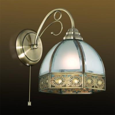 Светильник Odeon Light 2344/1A бронза ValsoВосточный стиль<br><br><br>S освещ. до, м2: 4<br>Тип лампы: накаливания / энергосбережения / LED-светодиодная<br>Тип цоколя: E27<br>Количество ламп: 1<br>Ширина, мм: 315<br>MAX мощность ламп, Вт: 60<br>Высота, мм: 230<br>Цвет арматуры: бронзовый