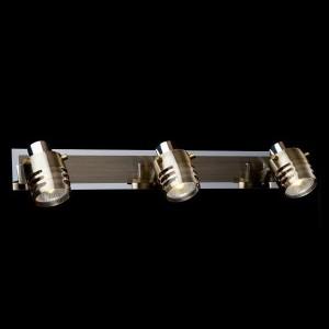 Светильник Евросвет 23463/3 хромТройные<br>Светильники-споты – это оригинальные изделия с современным дизайном. Они позволяют не ограничивать свою фантазию при выборе освещения для интерьера. Такие модели обеспечивают достаточно качественный свет. Благодаря компактным размерам Вы можете использовать несколько спотов для одного помещения.  Интернет-магазин «Светодом» предлагает необычный светильник-спот Евросвет 23463/3 по привлекательной цене. Эта модель станет отличным дополнением к люстре, выполненной в том же стиле. Перед оформлением заказа изучите характеристики изделия.  Купить светильник-спот Евросвет 23463/3 в нашем онлайн-магазине Вы можете либо с помощью формы на сайте, либо по указанным выше телефонам. Обратите внимание, что у нас склады не только в Москве и Екатеринбурге, но и других городах России.<br><br>S освещ. до, м2: 10<br>Тип лампы: галогенная / LED-светодиодная<br>Тип цоколя: G5.3<br>Количество ламп: 3<br>MAX мощность ламп, Вт: 50<br>Длина, мм: 550<br>Высота, мм: 150<br>Цвет арматуры: серебристый