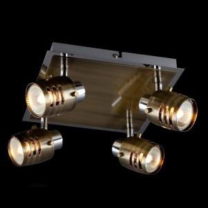 Светильник Евросвет 23463/4 хромС 4 лампами<br>Светильники-споты – это оригинальные изделия с современным дизайном. Они позволяют не ограничивать свою фантазию при выборе освещения для интерьера. Такие модели обеспечивают достаточно качественный свет. Благодаря компактным размерам Вы можете использовать несколько спотов для одного помещения.  Интернет-магазин «Светодом» предлагает необычный светильник-спот Евросвет 23463/4 по привлекательной цене. Эта модель станет отличным дополнением к люстре, выполненной в том же стиле. Перед оформлением заказа изучите характеристики изделия.  Купить светильник-спот Евросвет 23463/4 в нашем онлайн-магазине Вы можете либо с помощью формы на сайте, либо по указанным выше телефонам. Обратите внимание, что у нас склады не только в Москве и Екатеринбурге, но и других городах России.<br><br>S освещ. до, м2: 13<br>Тип лампы: галогенная / LED-светодиодная<br>Тип цоколя: G5.3<br>Количество ламп: 4<br>Ширина, мм: 240<br>MAX мощность ламп, Вт: 50<br>Длина, мм: 240<br>Высота, мм: 150<br>Цвет арматуры: серебристый