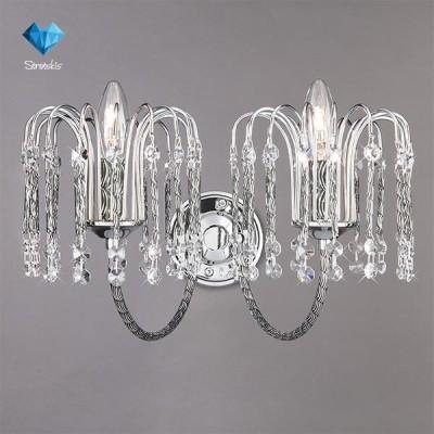 Светильник Bogateapos;s 239/2 StrotskisХрустальные<br><br><br>Тип лампы: Накаливания / энергосбережения / светодиодная<br>Тип цоколя: E14<br>Цвет арматуры: серебристый<br>Количество ламп: 2<br>Ширина, мм: 360<br>Длина, мм: 270<br>Высота, мм: 210<br>MAX мощность ламп, Вт: 60