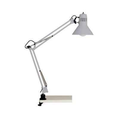 Светильник настольный Brilliant 10802/11 HobbyНа струбцине<br>Настольная лампа – это не просто источник дополнительного освещения, но и оригинальный элемент декора. Его можно установить в спальне, гостиной, кабинете и других комнатах. Интернет-магазин «Светодом» предлагает настольные лампы разных стилей по доступным ценам. Благодаря большому ассортименту Вы обязательно найдете в нашем каталоге именно ту модель, которую искали.   Настольная лампа Brilliant 10802/11 – прекрасный вариант для завершения интерьера. Ее можно включить одновременно с люстрой для более яркого освещения или без нее для создания уютной атмосферы, настраивающей на отдых.   Купить настольную лампу Brilliant 10802/11 Вы можете с помощью виртуальной «Корзины» или по контактным номерам, указанным на сайте.<br><br>S освещ. до, м2: 4<br>Тип товара: Настольная лампа<br>Тип лампы: накал-я - энергосбер-я<br>Тип цоколя: E27<br>Количество ламп: 1<br>MAX мощность ламп, Вт: 60<br>Диаметр, мм мм: 170<br>Выступ, мм: 650<br>Высота, мм: 700<br>Цвет арматуры: серый