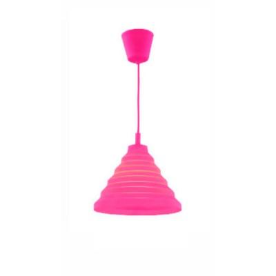 Светильник Flamelli FL2401-1P PinkОдиночные<br>Cветильник подвесной. Токоведущий шнур в декоративной оплётке в цвет абажура. Электрический патрон обтянут колпачком в цвет абажура. Материал абажура – термостойкая резина, нетоксичная, не выделяет химические канцерогены при включении.<br><br>Тип цоколя: E27<br>Цвет арматуры: разноцветный<br>Количество ламп: 1<br>Ширина, мм: 300<br>Диаметр, мм мм: 300<br>Высота, мм: 1200<br>MAX мощность ламп, Вт: 60