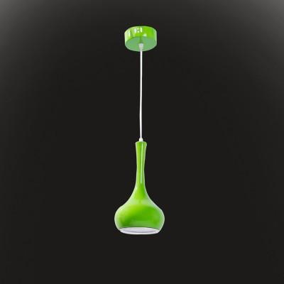 Светильник Flamelli FL2402-1P GrОдиночные<br>Размеры металлического рассеивателя: высота В=250мм, диаметр А=150мм, диаметр нижний С=110мм. Светильник с встроенным драйвером и LED лампами.<br><br>Тип цоколя: LED<br>Высота, мм: 1200<br>Цвет арматуры: зеленый