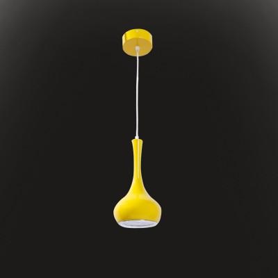 Светильник Flamelli FL2402-1P YLОдиночные<br>Размеры металлического рассеивателя: высота В=250мм, диаметр А=150мм, диаметр нижний С=110мм. Светильник с встроенным драйвером и LED лампами.<br><br>Тип цоколя: LED<br>Цвет арматуры: желтый  LED Cветильник подвесной, LED лампы входят в комплект поставки<br>Высота, мм: 1200