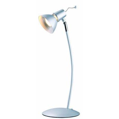 Настольная лампа Globo 24100 CanberraСовременные<br><br><br>Тип товара: Настольная лампа<br>Скидка, %: 47<br>Тип лампы: галогенная<br>Тип цоколя: GU10<br>Количество ламп: 1<br>MAX мощность ламп, Вт: 50<br>Длина, мм: 160<br>Высота, мм: 440<br>Цвет арматуры: серебристый хром