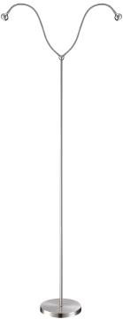 Торшер Globo 24109-2S SerpentХай-тек<br>Торшер – это не просто функциональный предмет интерьера, позволяющий обеспечить дополнительное освещение, но и оригинальный декоративный элемент. Интернет-магазин «Светодом» предлагает стильные модели от известных производителей по доступным ценам. У нас Вы найдете и классические напольные светильники, и современные варианты.   Торшер 24109-2S Globo сразу же привлекает внимание благодаря своему необычному дизайну. Модель выполнена из качественных материалов, что обеспечит ее надежную и долговечную работу. Такой напольный светильник можно использовать для интерьера не только гостиной, но и спальни или кабинета.   Купить торшер 24109-2S Globo по выгодной стоимости Вы можете с помощью нашего сайта. У нас склады в Москве, Екатеринбурге, Санкт-Петербурге, Новосибирске и другим городам России.<br><br>Тип лампы: галогенная / LED-светодиодная<br>Тип цоколя: LED<br>Цвет арматуры: серебристый<br>Количество ламп: 2<br>Ширина, мм: 840<br>Длина, мм: 840<br>Высота, мм: 1640<br>MAX мощность ламп, Вт: 3