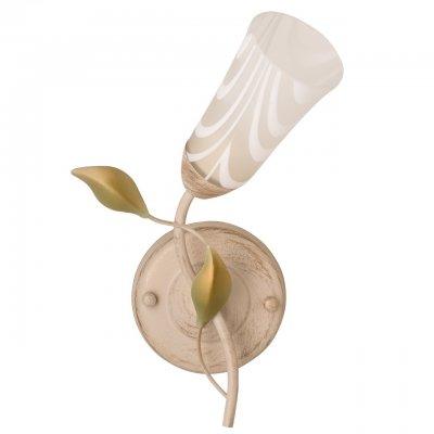 Светильник настенный бра De markt 242025701 Восторгбра флористика и цветы<br>Бра из коллекции «Восторг» напоминает чудесный вьющийся цветок. Нераскрытый бутон-плафон, выполненный из матового стекла с плавными мягкими разводами, держится на стебле-рожке. Его окутывают нежные золотисто-зеленого цвета листья. Цветовую гамму дополняет кремовый оттенок металлического основания.Бра наполнит обстановку легкостью и свежестью. Рекомендуемая площадь освещения порядка 3 кв.м.<br><br>S освещ. до, м2: 3<br>Тип лампы: накаливания<br>Тип цоколя: E14<br>Цвет арматуры: бежевый<br>Количество ламп: 1<br>Ширина, мм: 200<br>Длина, мм: 300<br>Высота, мм: 180<br>Поверхность арматуры: матовая<br>Оттенок (цвет): бежевый<br>MAX мощность ламп, Вт: 60