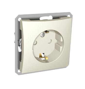Lexel Дуэт бежевый Розетка с зазамлением с защитными шторками (SE WDE000245)Бежевый<br><br><br>Тип товара: розетка 220V<br>Оттенок (цвет): бежевый