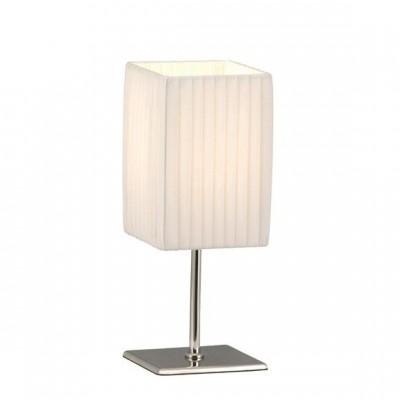 Настольный светильник Globo 24660 BaileyВосточный стиль<br><br><br>S освещ. до, м2: 2<br>Тип товара: Настольная лампа<br>Скидка, %: 26<br>Тип лампы: накаливания / энергосбережения / LED-светодиодная<br>Тип цоколя: E14<br>Количество ламп: 1<br>Ширина, мм: 100<br>MAX мощность ламп, Вт: 40<br>Длина, мм: 100<br>Высота, мм: 260<br>Цвет арматуры: серебристый