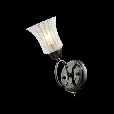 Светильник Idlamp 246/1A Blackwhiteсовременные бра модерн<br><br><br>S освещ. до, м2: 4<br>Крепление: Настенные<br>Тип цоколя: Е27<br>Цвет арматуры: черный<br>Количество ламп: 1<br>Ширина, мм: 120<br>Расстояние от стены, мм: 190<br>Высота, мм: 250<br>Оттенок (цвет): Полупрозрачный<br>MAX мощность ламп, Вт: 60