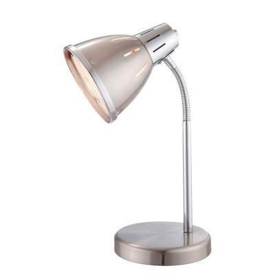 Светильник Globo 24777 Egoофисные настольные лампы<br>Настольная лампа – это не просто источник дополнительного освещения, но и оригинальный элемент декора. Его можно установить в спальне, гостиной, кабинете и других комнатах. Интернет-магазин «Светодом» предлагает настольные лампы разных стилей по доступным ценам. Благодаря большому ассортименту Вы обязательно найдете в нашем каталоге именно ту модель, которую искали.   Настольная лампа Globo 24777 – прекрасный вариант для завершения интерьера. Ее можно включить одновременно с люстрой для более яркого освещения или без нее для создания уютной атмосферы, настраивающей на отдых.   Купить настольную лампу Globo 24777 Вы можете с помощью виртуальной «Корзины» или по контактным номерам, указанным на сайте.<br><br>Тип лампы: Накаливания / энергосбережения / светодиодная<br>Тип цоколя: E27<br>Цвет арматуры: серебристый<br>Количество ламп: 1<br>Длина, мм: 175<br>Высота, мм: 360<br>MAX мощность ламп, Вт: 40
