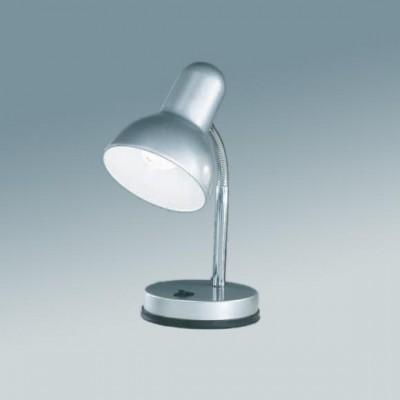 Настольная лампа Globo 2487 BasicОфисные<br>Настольная лампа – это не просто источник дополнительного освещения, но и оригинальный элемент декора. Его можно установить в спальне, гостиной, кабинете и других комнатах. Интернет-магазин «Светодом» предлагает настольные лампы разных стилей по доступным ценам. Благодаря большому ассортименту Вы обязательно найдете в нашем каталоге именно ту модель, которую искали.   Настольная лампа Globo 2487 – прекрасный вариант для завершения интерьера. Ее можно включить одновременно с люстрой для более яркого освещения или без нее для создания уютной атмосферы, настраивающей на отдых.   Купить настольную лампу Globo 2487 Вы можете с помощью виртуальной «Корзины» или по контактным номерам, указанным на сайте.<br><br>S освещ. до, м2: 4<br>Тип лампы: накал-я - энергосбер-я<br>Тип цоколя: E27<br>Цвет арматуры: серебристый<br>Количество ламп: 1<br>Ширина, мм: 145<br>Диаметр, мм мм: 130<br>Длина, мм: 145<br>Высота, мм: 330<br>MAX мощность ламп, Вт: 40
