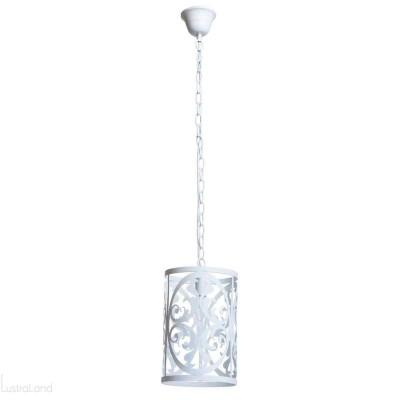 Люстра Mw light 249016701 ЗамокОдиночные<br>Описание модели 249016701: Нежный, воздушный светильник из коллекции «Замок» привнесет в обстановку непринужденность и изящность.  Он выполнен в стиле легкой ковки и идеально подойдет для любителей оригинальных решений в интерьере.  Металлическое основание окрашено в глянцевый белый цвет, освежающий комнату. Трендовый дизайн светильника подчеркнут  изящным резным узором, плавные линии и изгибы которого настраивают на спокойствие и создают уют. Рекомендуемая площадь освещения – 15 кв.м.<br><br>S освещ. до, м2: 3<br>Крепление: Крюк<br>Тип лампы: Накаливания / энергосбережения / светодиодная<br>Тип цоколя: E14<br>Цвет арматуры: белый<br>Количество ламп: 1<br>Диаметр, мм мм: 200<br>Длина цепи/провода, мм: 600<br>Высота, мм: 1100<br>MAX мощность ламп, Вт: 60<br>Общая мощность, Вт: 60