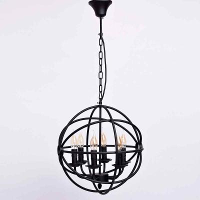 Люстра Mw light 249017306 ЗамокПодвесные<br>Описание модели 249017306: Любителям оригинальных решений в интерьере идеально подойдет люстра из коллекции «Замок».  Она привлекает своим необычным исполнением: матовое металлическое основание чёрного цвета закручено в  виде сфер, при включенном свете оно подсвечивается, создавая мистическое сияние и тени. Источник света – свечи с эффектом тающего воска, оригинально выделяющие кольца  в вечернем освещении. Трендовый дизайн подчеркнуто брутален. Рекомендуемая площадь освещения порядка 18 кв.м.<br><br>Установка на натяжной потолок: Да<br>S освещ. до, м2: 18<br>Крепление: Крюк<br>Тип лампы: Накаливания / энергосбережения / светодиодная<br>Тип цоколя: E14<br>Цвет арматуры: черный<br>Количество ламп: 6<br>Диаметр, мм мм: 400<br>Длина цепи/провода, мм: 280<br>Высота, мм: 900<br>MAX мощность ламп, Вт: 60<br>Общая мощность, Вт: 360