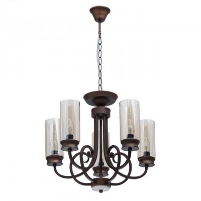 Светильник De Markt 249017805подвесные люстры лофт<br><br><br>S освещ. до, м2: 10<br>Тип лампы: накаливания / энергосбережения / LED-светодиодная<br>Тип цоколя: E14<br>Цвет арматуры: коричневый<br>Количество ламп: 5<br>Диаметр, мм мм: 460<br>Высота, мм: 800<br>MAX мощность ламп, Вт: 40