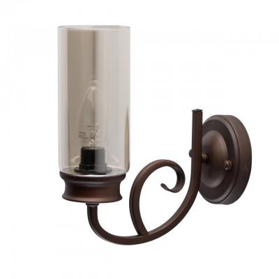 Светильник De Markt 249027901классические бра<br><br><br>Тип лампы: Накаливания / энергосбережения / светодиодная<br>Тип цоколя: E14<br>Цвет арматуры: коричневый<br>Количество ламп: 1<br>Ширина, мм: 110<br>Длина, мм: 250<br>Высота, мм: 220<br>MAX мощность ламп, Вт: 40