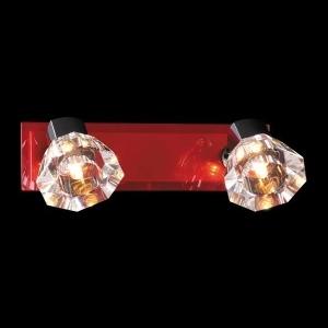 Светильник красный Евросвет 25333/2 хромДвойные<br><br><br>S освещ. до, м2: 5<br>Тип товара: Светильник настенный поворотный спот<br>Скидка, %: 25<br>Тип лампы: галогенная / LED-светодиодная<br>Тип цоколя: G9<br>Количество ламп: 2<br>MAX мощность ламп, Вт: 40<br>Длина, мм: 320<br>Высота, мм: 100<br>Оттенок (цвет): красный<br>Цвет арматуры: красный