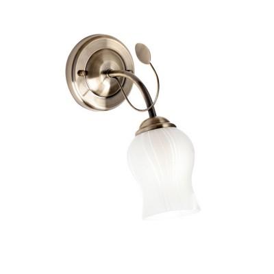 Светильник настенный бра De markt 256028401 ФлораФлористика<br>Описание модели 256028401: Форма светильника напоминает романтический букет из белоснежных бутонов цветов, которые озаряют всё вокруг своей красотой света! Настенный светильник из коллекции Флора хорошо подойдёт для гостиной, столовой, жилой комнаты или на кухне.<br><br>S освещ. до, м2: 3<br>Тип лампы: накаливания / энергосбережения / LED-светодиодная<br>Тип цоколя: E14<br>Количество ламп: 1<br>Ширина, мм: 100<br>MAX мощность ламп, Вт: 60<br>Длина, мм: 220<br>Высота, мм: 230<br>Цвет арматуры: бронзовый