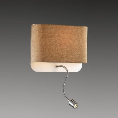 Светильник Odeon light 2589/2WХай-тек<br><br><br>S освещ. до, м2: 4<br>Тип цоколя: E27<br>Количество ламп: 1<br>Ширина, мм: 280<br>MAX мощность ламп, Вт: 60<br>Высота, мм: 240<br>Оттенок (цвет): бежевый<br>Цвет арматуры: серебристый