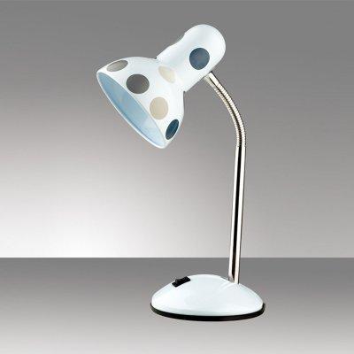 Светильник настольный Odeon light 2592/1TДля детской<br>Настольная лампа – это не просто источник дополнительного освещения, но и оригинальный элемент декора. Его можно установить в спальне, гостиной, кабинете и других комнатах. Интернет-магазин «Светодом» предлагает настольные лампы разных стилей по доступным ценам. Благодаря большому ассортименту Вы обязательно найдете в нашем каталоге именно ту модель, которую искали.   Настольная лампа Odeon light 2592/1T  – прекрасный вариант для завершения интерьера. Ее можно включить одновременно с люстрой для более яркого освещения или без нее для создания уютной атмосферы, настраивающей на отдых.   Купить настольную лампу Odeon light 2592/1T  Вы можете с помощью виртуальной «Корзины» или по контактным номерам, указанным на сайте.<br><br>S освещ. до, м2: 4<br>Тип цоколя: E27<br>Цвет арматуры: белый<br>Количество ламп: 1<br>Ширина, мм: 141<br>Высота, мм: 350<br>Оттенок (цвет): горох сер.<br>MAX мощность ламп, Вт: 60