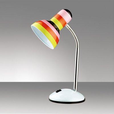 Светильник настольный Odeon light 2593/1TДля детской<br>Настольная лампа – это не просто источник дополнительного освещения, но и оригинальный элемент декора. Его можно установить в спальне, гостиной, кабинете и других комнатах. Интернет-магазин «Светодом» предлагает настольные лампы разных стилей по доступным ценам. Благодаря большому ассортименту Вы обязательно найдете в нашем каталоге именно ту модель, которую искали.   Настольная лампа Odeon light 2593/1T  – прекрасный вариант для завершения интерьера. Ее можно включить одновременно с люстрой для более яркого освещения или без нее для создания уютной атмосферы, настраивающей на отдых.   Купить настольную лампу Odeon light 2593/1T  Вы можете с помощью виртуальной «Корзины» или по контактным номерам, указанным на сайте.<br><br>S освещ. до, м2: 4<br>Тип цоколя: E27<br>Цвет арматуры: белый<br>Количество ламп: 1<br>Ширина, мм: 141<br>Высота, мм: 350<br>Оттенок (цвет): полоска<br>MAX мощность ламп, Вт: 60