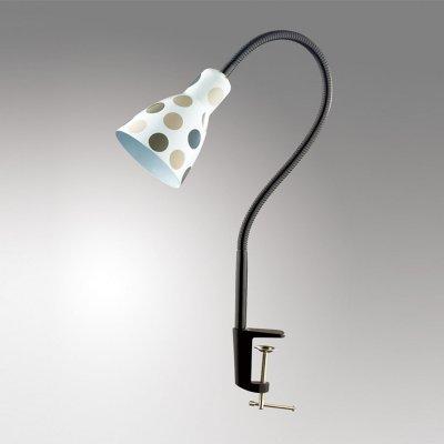 Светильник настольный Odeon light 2595/1TДля детской<br><br><br>S освещ. до, м2: 4<br>Тип товара: настольная лампа<br>Тип цоколя: E27<br>Количество ламп: 1<br>Ширина, мм: 105<br>MAX мощность ламп, Вт: 60<br>Высота, мм: 530<br>Оттенок (цвет): горох сер.<br>Цвет арматуры: белый