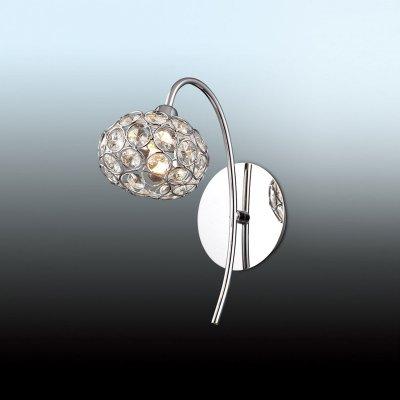 Светильник Odeon light 2597/1WСовременные<br><br><br>S освещ. до, м2: 3<br>Тип цоколя: G9<br>Цвет арматуры: серебристый<br>Количество ламп: 1<br>Ширина, мм: 110<br>Высота, мм: 240<br>MAX мощность ламп, Вт: 40