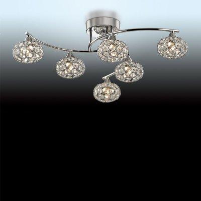 Люстра Odeon light 2597/6CПотолочные<br>Компания «Светодом» предлагает широкий ассортимент люстр от известных производителей. Представленные в нашем каталоге товары выполнены из современных материалов и обладают отличным качеством. Благодаря широкому ассортименту Вы сможете найти у нас люстру под любой интерьер. Мы предлагаем как классические варианты, так и современные модели, отличающиеся лаконичностью и простотой форм.  Стильная люстра Odeon light 2597/6C  станет украшением любого дома. Эта модель от известного производителя не оставит равнодушным ценителей красивых и оригинальных предметов интерьера. Люстра Odeon light 2597/6C  обеспечит равномерное распределение света по всей комнате. При выборе обратите внимание на характеристики, позволяющие приобрести наиболее подходящую модель. Купить понравившуюся люстру по доступной цене Вы можете в интернет-магазине «Светодом».<br><br>Установка на натяжной потолок: Ограничено<br>S освещ. до, м2: 16<br>Крепление: Планка<br>Тип цоколя: G9<br>Количество ламп: 6<br>MAX мощность ламп, Вт: 40<br>Диаметр, мм мм: 650<br>Высота, мм: 170<br>Цвет арматуры: серебристый