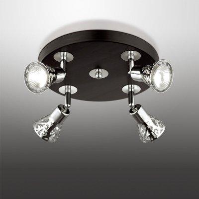 Люстра Odeon light 2612/4CПоворотные<br>Компания «Светодом» предлагает широкий ассортимент люстр от известных производителей. Представленные в нашем каталоге товары выполнены из современных материалов и обладают отличным качеством. Благодаря широкому ассортименту Вы сможете найти у нас люстру под любой интерьер. Мы предлагаем как классические варианты, так и современные модели, отличающиеся лаконичностью и простотой форм.  Стильная люстра Odeon light 2612/4C станет украшением любого дома. Эта модель от известного производителя не оставит равнодушным ценителей красивых и оригинальных предметов интерьера. Люстра Odeon light 2612/4C обеспечит равномерное распределение света по всей комнате. При выборе обратите внимание на характеристики, позволяющие приобрести наиболее подходящую модель. Купить понравившуюся люстру по доступной цене Вы можете в интернет-магазине «Светодом».<br><br>Установка на натяжной потолок: Ограничено<br>S освещ. до, м2: 14<br>Крепление: Планка<br>Тип цоколя: GU10<br>Количество ламп: 4<br>MAX мощность ламп, Вт: 50<br>Диаметр, мм мм: 245<br>Высота, мм: 125<br>Цвет арматуры: серебристый