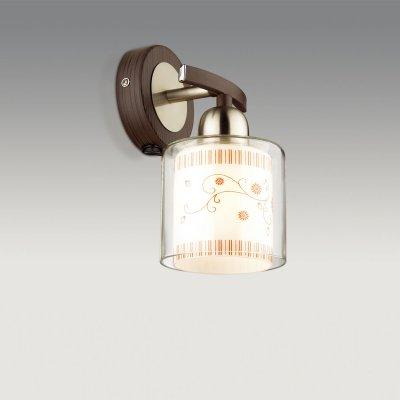 Светильник Odeon light 2616/1WФлористика<br><br><br>S освещ. до, м2: 3<br>Тип цоколя: E14<br>Количество ламп: 1<br>Ширина, мм: 120<br>MAX мощность ламп, Вт: 40<br>Высота, мм: 210<br>Оттенок (цвет): белый<br>Цвет арматуры: серый
