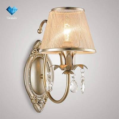 Евросвет 262/1 Strotskisклассические бра<br><br><br>Тип лампы: Накаливания / энергосбережения / светодиодная<br>Тип цоколя: E14<br>Количество ламп: 1<br>Ширина, мм: 155<br>Расстояние от стены, мм: 266<br>Высота, мм: 290<br>MAX мощность ламп, Вт: 40