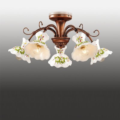 Люстра Odeon light 2621/5Потолочные<br><br><br>S освещ. до, м2: 14<br>Тип лампы: Накаливания / энергосбережения / светодиодная<br>Тип цоколя: E14<br>Количество ламп: 5<br>MAX мощность ламп, Вт: 40<br>Диаметр, мм мм: 560<br>Высота, мм: 250<br>Цвет арматуры: коричневый