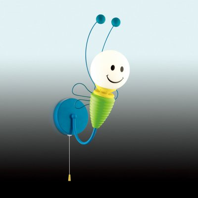 Светильник Odeon light 2633/1WДля детской<br><br><br>S освещ. до, м2: 3<br>Тип цоколя: E14<br>Количество ламп: 1<br>Ширина, мм: 200<br>MAX мощность ламп, Вт: 40<br>Высота, мм: 380<br>Оттенок (цвет): синий<br>Цвет арматуры: синий