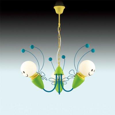 Люстра Odeon light 2633/3Подвесные<br><br><br>Установка на натяжной потолок: Да<br>S освещ. до, м2: 8<br>Крепление: Крюк<br>Тип товара: Люстра подвесная<br>Тип цоколя: E14<br>Количество ламп: 3<br>MAX мощность ламп, Вт: 40<br>Диаметр, мм мм: 700<br>Высота, мм: 1200<br>Оттенок (цвет): синий<br>Цвет арматуры: зеленый